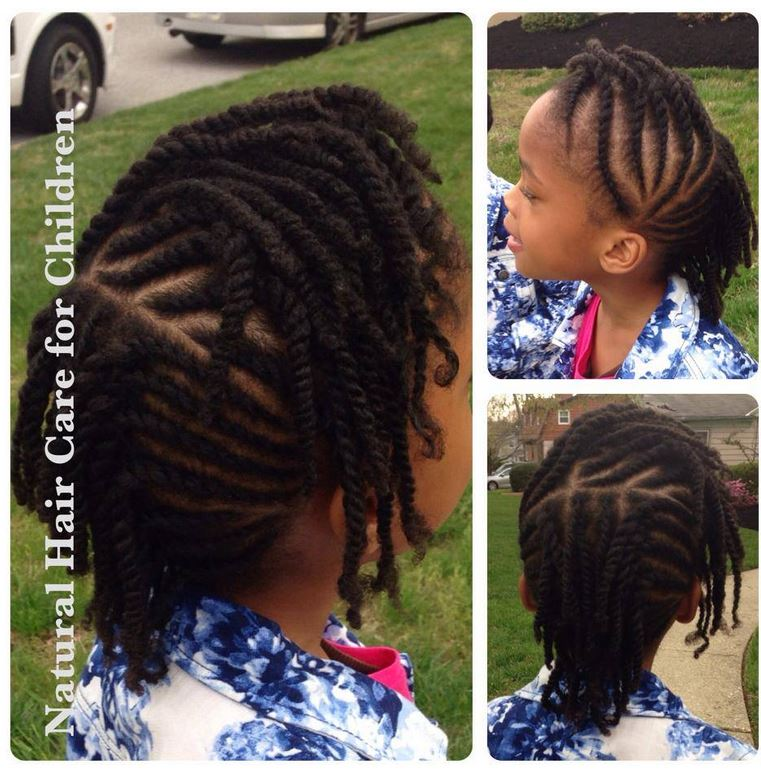 How To Flat Twist Children S Natural Hair With A Tip On Edge
